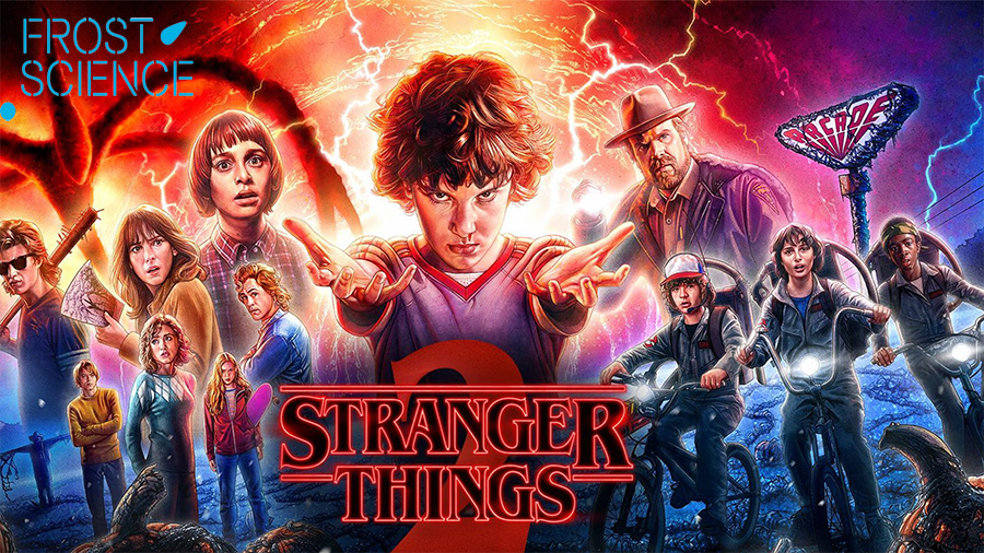 Stranger Things Frost Science Museum Laser Show image copyright Netflix